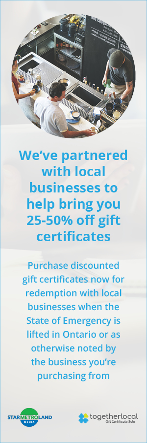 We've partnered with local businesses to bring you 25-50% off gift certificates